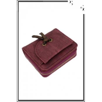 Porte monnaie - Petit modèle - Noeud sur le devant - Rouge