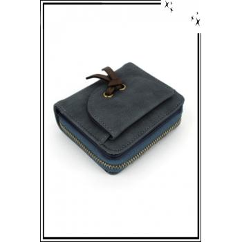 Porte monnaie - Petit modèle - Noeud sur le devant - Bleu marine