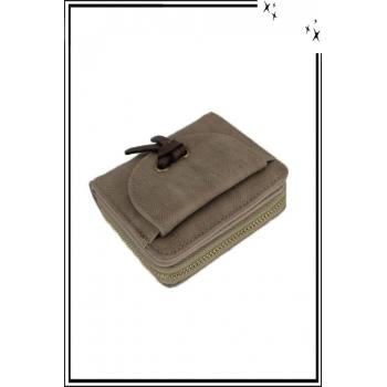 Porte monnaie - Petit modèle - Noeud sur le devant - Taupe