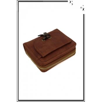 Porte monnaie - Petit modèle - Noeud sur le devant - Camel