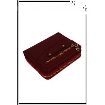Porte monnaie - Petit modèle - Zips et coeurs - Rouge