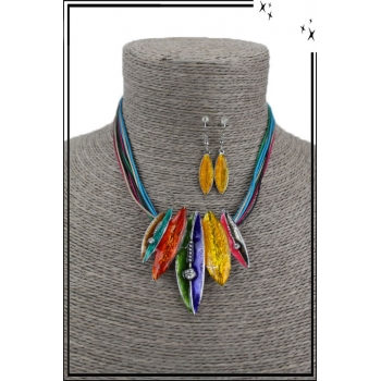 Parure - Plumes - Multicolor