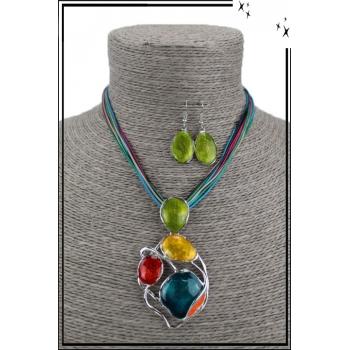 Parure - Forme ronde moderne - Multicolor