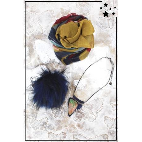 Cocco Box - Bijoux fantaisie et foulard - Moutarde et marine