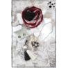 Cocco Box - Bijoux fantaisie et foulard - Bordeaux, noir et blanc