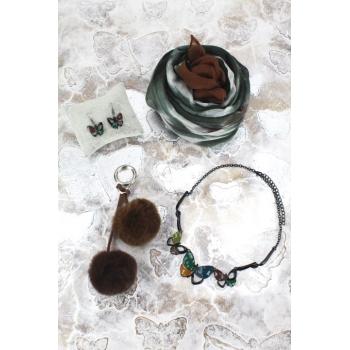Cocco Box - Bijoux fantaisie et foulard - Vert et chocolat