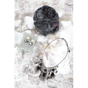 Cocco Box - Bijoux fantaisie et foulard - Noir et blanc