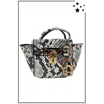 Porte monnaie mini sac à main - Style python - Gris