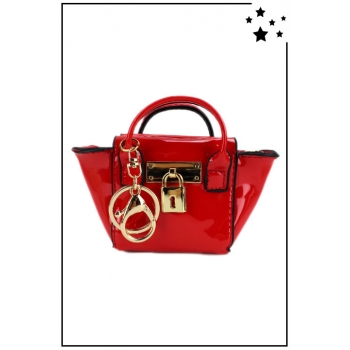 Porte monnaie mini sac à main - Vernis - Rouge