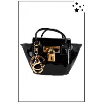 Porte monnaie mini sac à main - Vernis - Noir