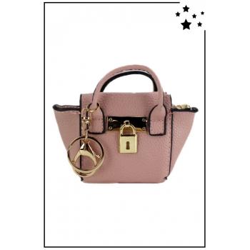 Porte monnaie mini sac à main - Texturé - Rose