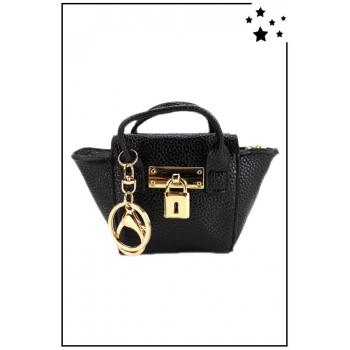 Porte monnaie mini sac à main - Texturé - Noir