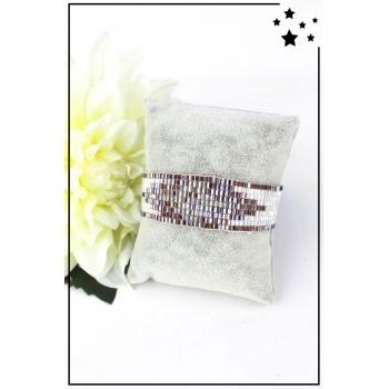 Bracelet - Perles de rocaille - Chocolat