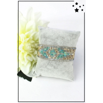Bracelet - Perles de rocaille - Doré