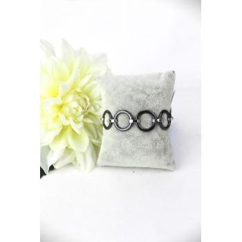 Bracelet - Petits ronds - Céramique - Noir