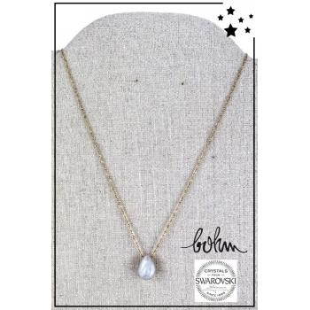 Collier Bohm - Cristal Swarovski - Doré - Blanc