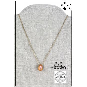 Collier Bohm - Cristal Swarovski - Doré - Orange