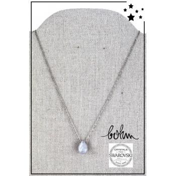 Collier Bohm - Cristal Swarovski - Argenté - Blanc