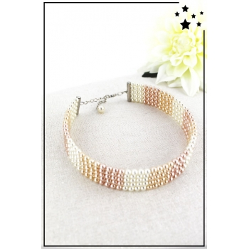 Collier ras de cou - Perles