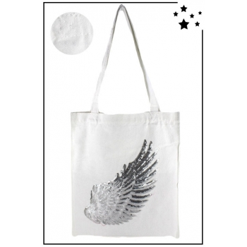 Tote Bag - 100% coton - Modèle Angel - Blanc