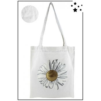 Tote Bag - 100% coton - Modèle Daisy - Blanc