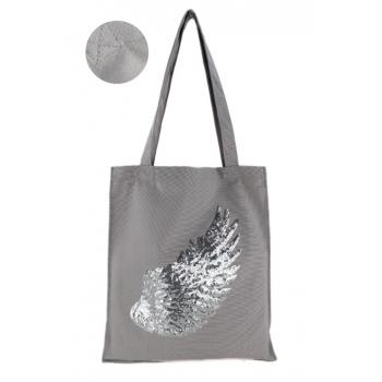 Tote Bag - 100% coton - Modèle Angel - Gris