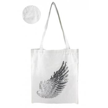 Tote Bag - 100% coton - Modèle Angel - Blanc