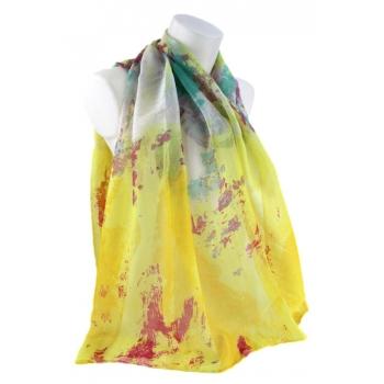 Foulard - Style art abstrait - Jaune et vert