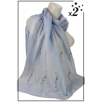 Foulard - Vague d'étoiles - Bleu ciel - x2