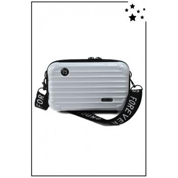Petit sac bandoulière - Mini valise rigide - Blanc