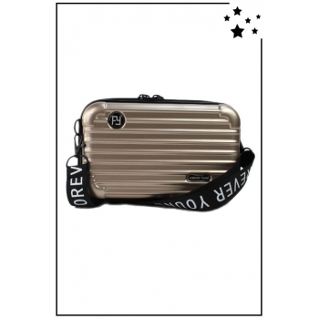 Petit sac bandoulière - Mini valise rigide - Champagne