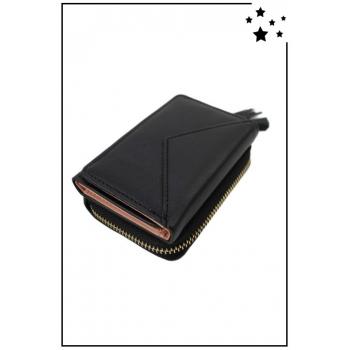 Porte-monnaie - Petit modèle - Double compartiment - Noir