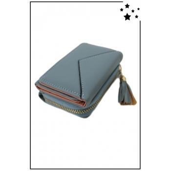 Porte-monnaie - Petit modèle - Double compartiment - Bleu