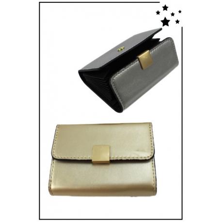 Porte cartes de visite - Boucle dorée - Doré