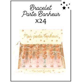 Bracelets porte-bonheur - Présentoir - x 24 pièces