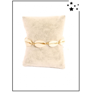 Bracelet - Coquillages - Doré