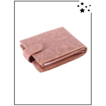 Porte feuilles - Texturé - Camel