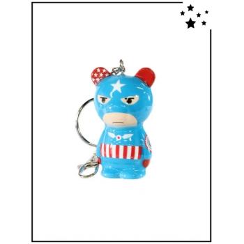 Porte-clés Crazy Factory - Captain America - Bleu