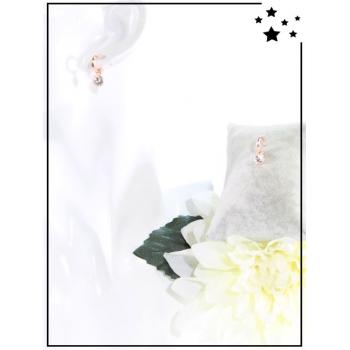 Boucles d'oreilles - Pampilles - Perles - Rose doré
