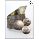 Ceinture - 3 ronds dorés - Pailleté - Doré