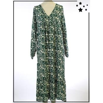 Robe longue - TU - Imprimé végétal - Sapin