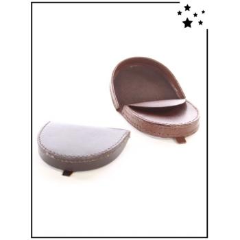 Porte-monnaie homme - Plat -  Chocolat