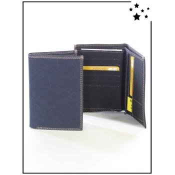 Porte-monnaie - Grand format - Surpiqûre - Marine