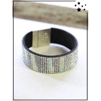 Bracelet strass - Irisé - Blanc