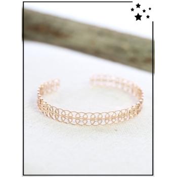 Bracelet jonc - Arabesques - Cuivré