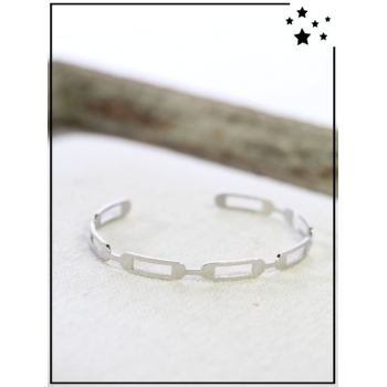 Bracelet jonc - Maillons - Argenté