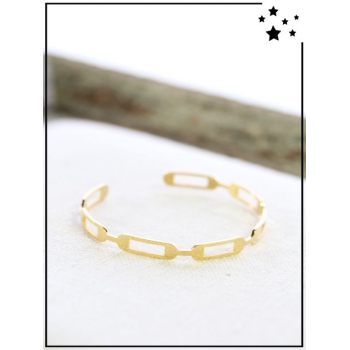 Bracelet jonc - Maillons - Doré