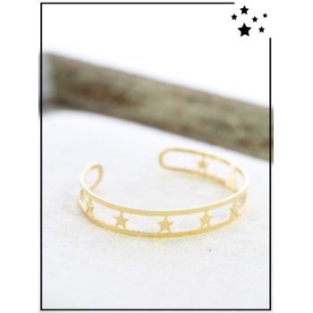 Bracelet jonc - Etoiles - Doré