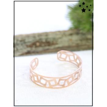 Bracelet jonc - Cubes - Cuivré