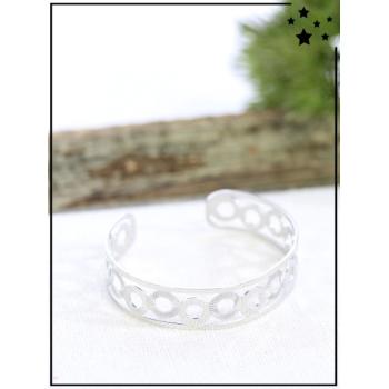 Bracelet jonc - Cercles - Argenté
